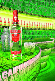 Рекламная кампания Smirnoff Red Vodka